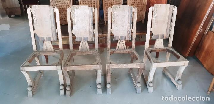 4 SILLAS ART DECÓ (Antigüedades - Muebles Antiguos - Sillas Antiguas)