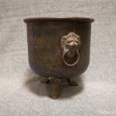Antigüedades: ANTIGUA CUBITERA - PARECE SER DE COBRE Y BRONCE / LATON. Lote 183073607