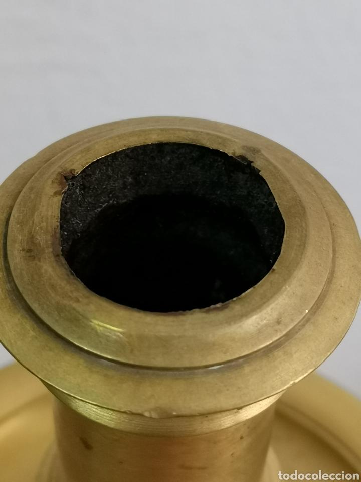 Antigüedades: Espectacular Gran candelabro de bronce. Pesado - Foto 5 - 183077360