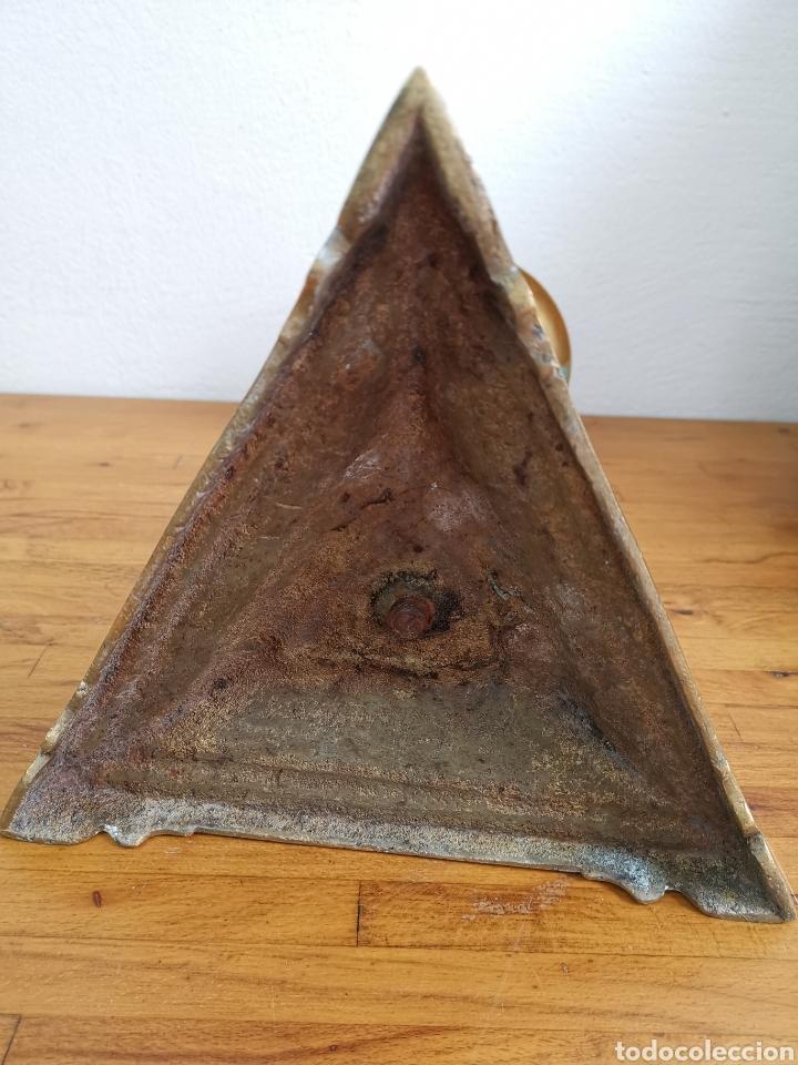 Antigüedades: Espectacular Gran candelabro de bronce. Pesado - Foto 7 - 183077360