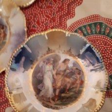 Antigüedades: LOTE 4 PLATOS Y BANDEJA PORCELANA. Lote 183079666