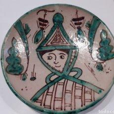 Antigüedades: PLATO CERÁMICA 16CM PINTADO Y FIRMADO. Lote 183080733
