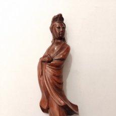 Antigüedades: FIGURA CHINA TALLADA EN MADERA. Lote 182848315