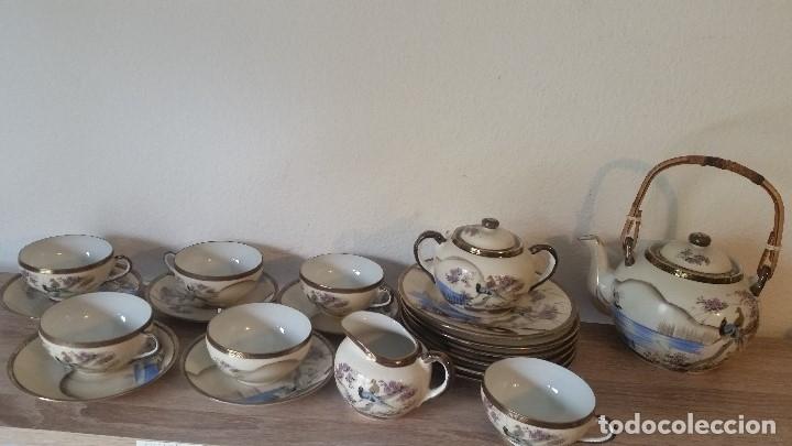 Antigüedades: EXPLENDIDO JUEGO DE THE O CAFE JAPONES ES ORIGINAL ESTA SELADO LA CARA JAPONESA DENTRO DA TAZA - Foto 2 - 183087771