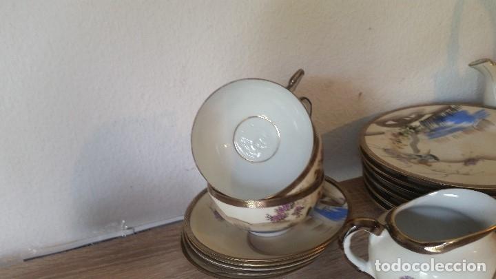 Antigüedades: EXPLENDIDO JUEGO DE THE O CAFE JAPONES ES ORIGINAL ESTA SELADO LA CARA JAPONESA DENTRO DA TAZA - Foto 16 - 183087771