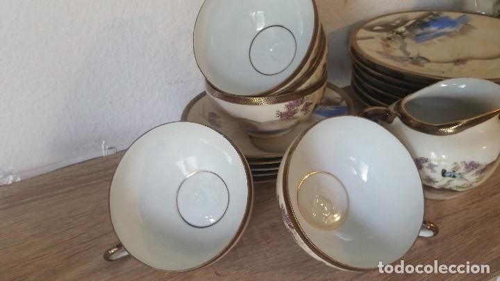 Antigüedades: EXPLENDIDO JUEGO DE THE O CAFE JAPONES ES ORIGINAL ESTA SELADO LA CARA JAPONESA DENTRO DA TAZA - Foto 17 - 183087771