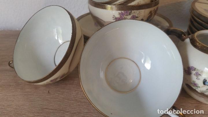 Antigüedades: EXPLENDIDO JUEGO DE THE O CAFE JAPONES ES ORIGINAL ESTA SELADO LA CARA JAPONESA DENTRO DA TAZA - Foto 21 - 183087771