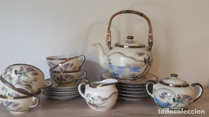 Antigüedades: EXPLENDIDO JUEGO DE THE O CAFE JAPONES ES ORIGINAL ESTA SELADO LA CARA JAPONESA DENTRO DA TAZA - Foto 22 - 183087771