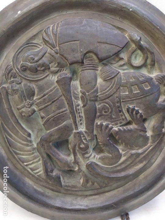 Antigüedades: Sant Jordi. Ceramica de Quart (Girona). s.XX. 36.3cm - Foto 3 - 183090641