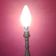 Antigüedades: PIE LAMPARA METALICO. Lote 183093978