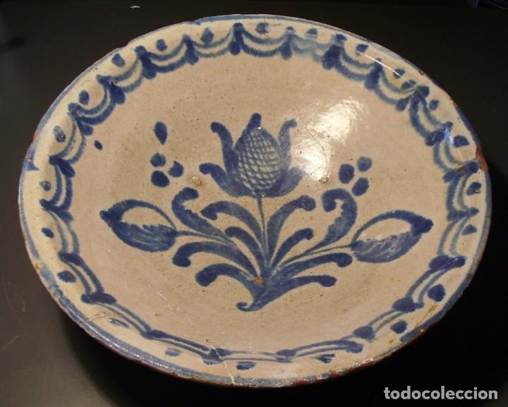 LEBRILLO – CUENCO CERÁMICA DE FAJALAUZA XIX (Antigüedades - Porcelanas y Cerámicas - Fajalauza)