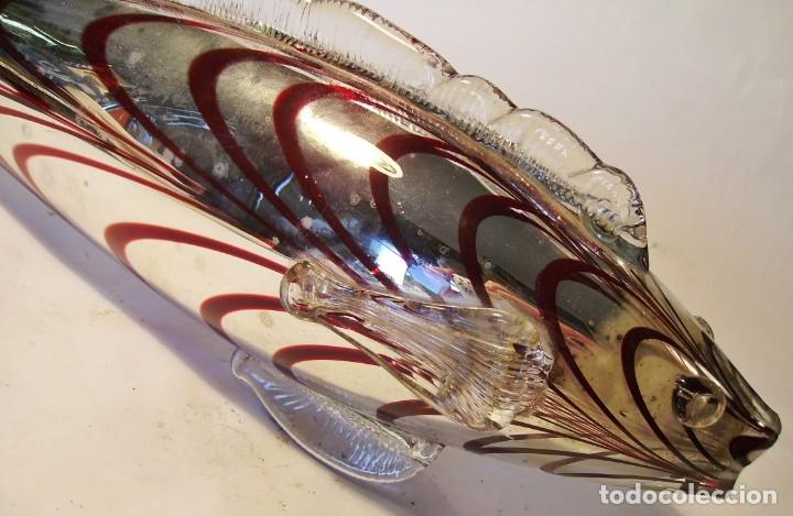 Antigüedades: PEZ DE CRISTAL DE MURANO - Foto 12 - 183097082