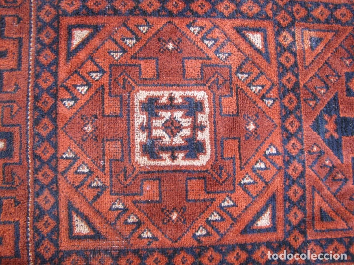 Antigüedades: Antigua alfombra Kurda Belucha. Nudos. Tejida a mano. Pura lana - Foto 3 - 183172217