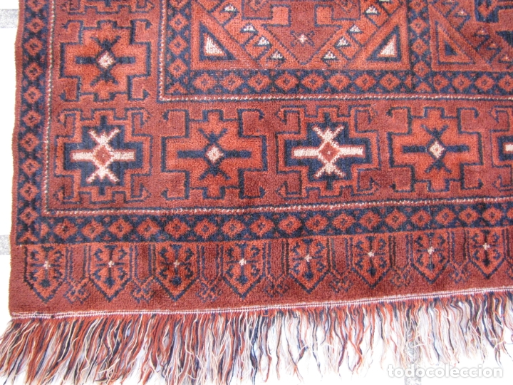 Antigüedades: Antigua alfombra Kurda Belucha. Nudos. Tejida a mano. Pura lana - Foto 6 - 183172217