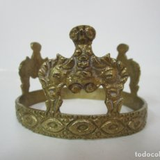 Antigüedades: CORONA DE BRONCE, CINCELADO - IDEAL VIRGEN, SANTO, ETC - DIÁMETRO - 10 CM - 6 CM ALTURA. Lote 183175852