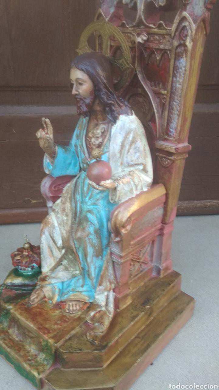 Antigüedades: Corazon de Jesús entronizado. - Foto 2 - 183179636