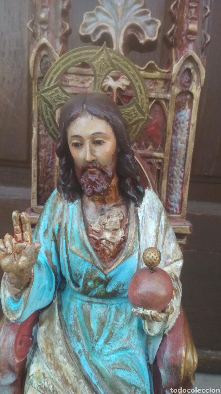 Antigüedades: Corazon de Jesús entronizado. - Foto 3 - 183179636