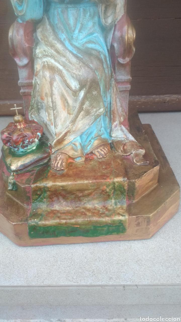 Antigüedades: Corazon de Jesús entronizado. - Foto 4 - 183179636