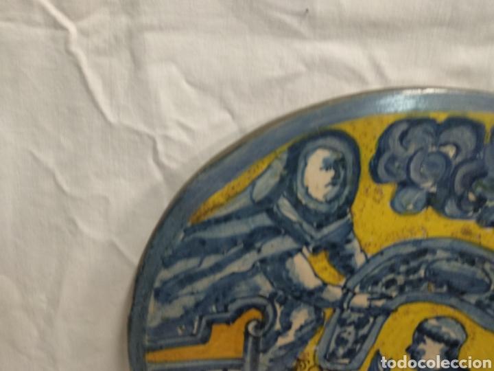 Antigüedades: Placa//azulejo de Talavera o puente del arzobispo siglo XVII - Foto 5 - 183182677