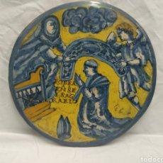 Antigüedades: PLACA//AZULEJO DE TALAVERA O PUENTE DEL ARZOBISPO SIGLO XVII. Lote 183182677