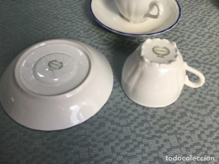 Antigüedades: Juego de café de la firma Bidasoa, porcelana fina - Foto 3 - 183185216
