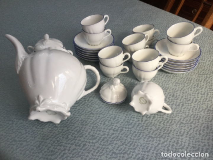 Antigüedades: Juego de café de la firma Bidasoa, porcelana fina - Foto 7 - 183185216