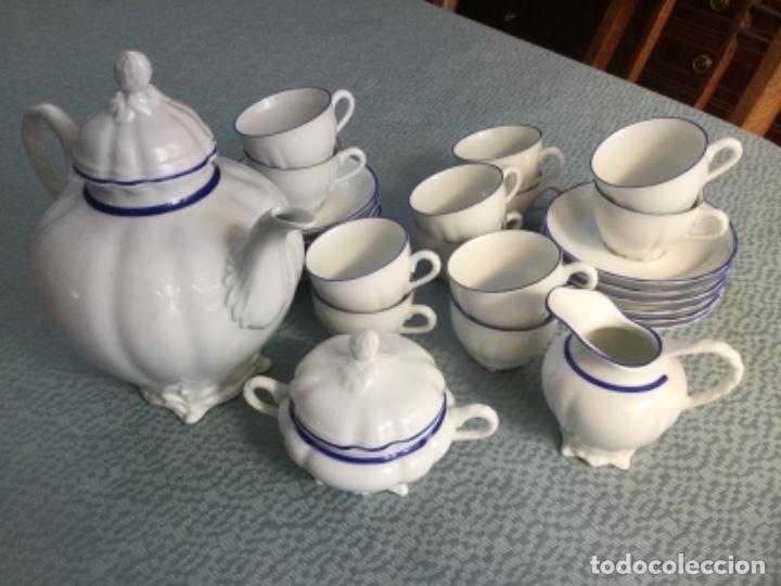 Antigüedades: Juego de café de la firma Bidasoa, porcelana fina - Foto 8 - 183185216