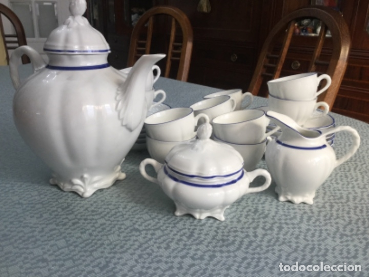 Antigüedades: Juego de café de la firma Bidasoa, porcelana fina - Foto 13 - 183185216