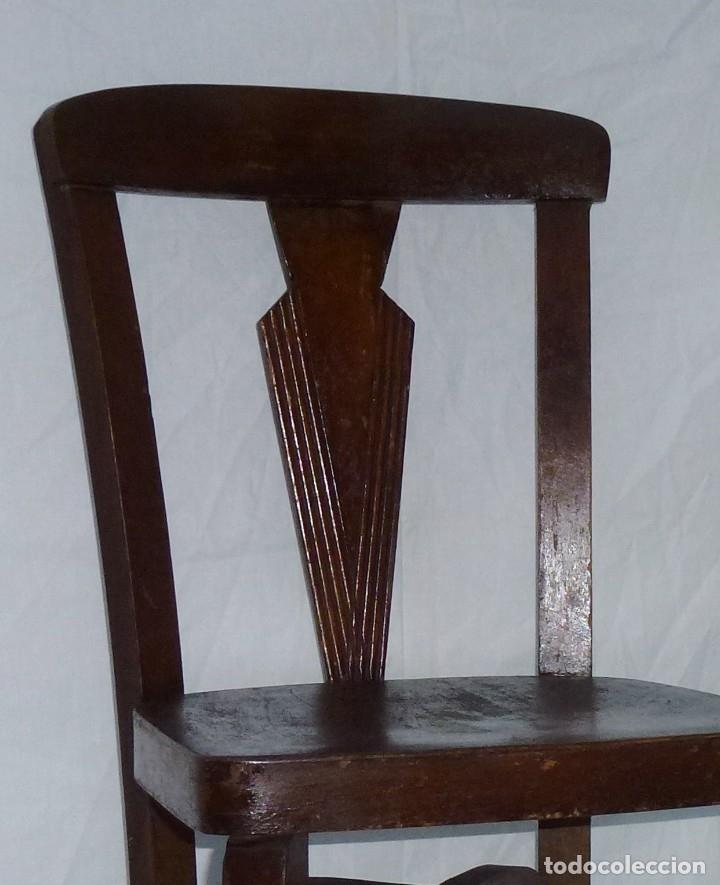 Antigüedades: Antigua silla de tamaño mediano. - Foto 2 - 183190261