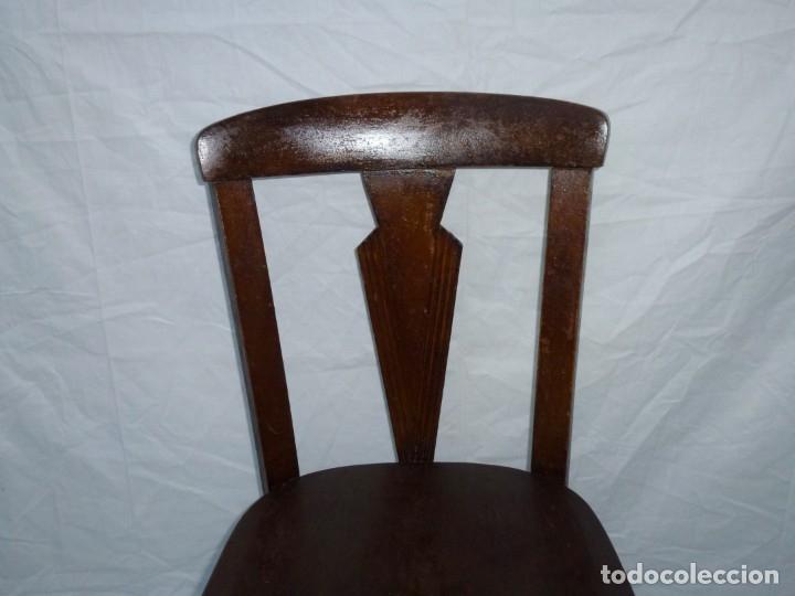 Antigüedades: Antigua silla de tamaño mediano. - Foto 3 - 183190261
