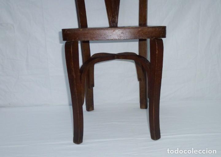 Antigüedades: Antigua silla de tamaño mediano. - Foto 5 - 183190261