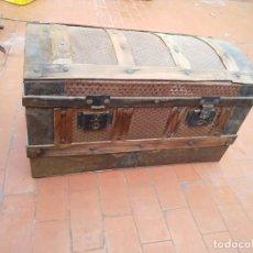 Antigüedades: BAÚL MADERA PARA RESTAURAR. Lote 183199152