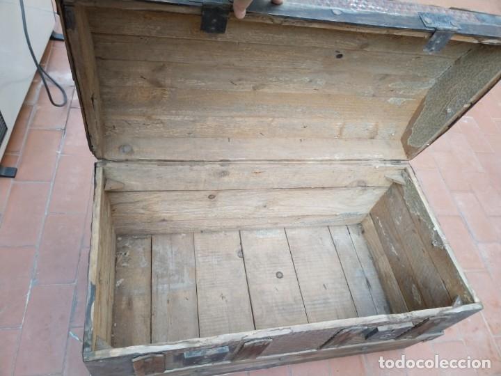 Antigüedades: baúl madera para restaurar - Foto 4 - 183199152