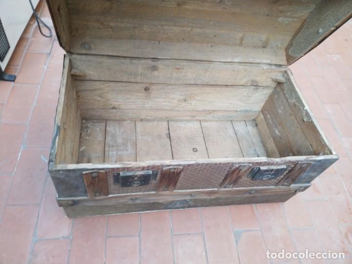 Antigüedades: baúl madera para restaurar - Foto 5 - 183199152
