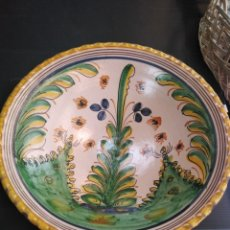 Antigüedades: PUENTE DEL ARZOBISPO,ROTUNDO PLATO SERIE PINOS SÍGLO XVIII. Lote 183234542