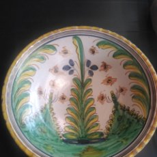 Antigüedades: PUENTE DEL ARZOBISPO,ROTUNDO PLATO SERIE PINOS SÍGLO XVIII. Lote 183234915
