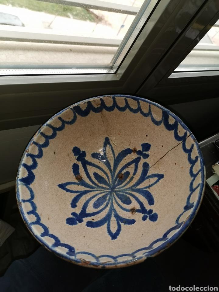 Antigüedades: Fuente de cerámica de fajalauza(Granada). Siglo XIX - Foto 2 - 183256231