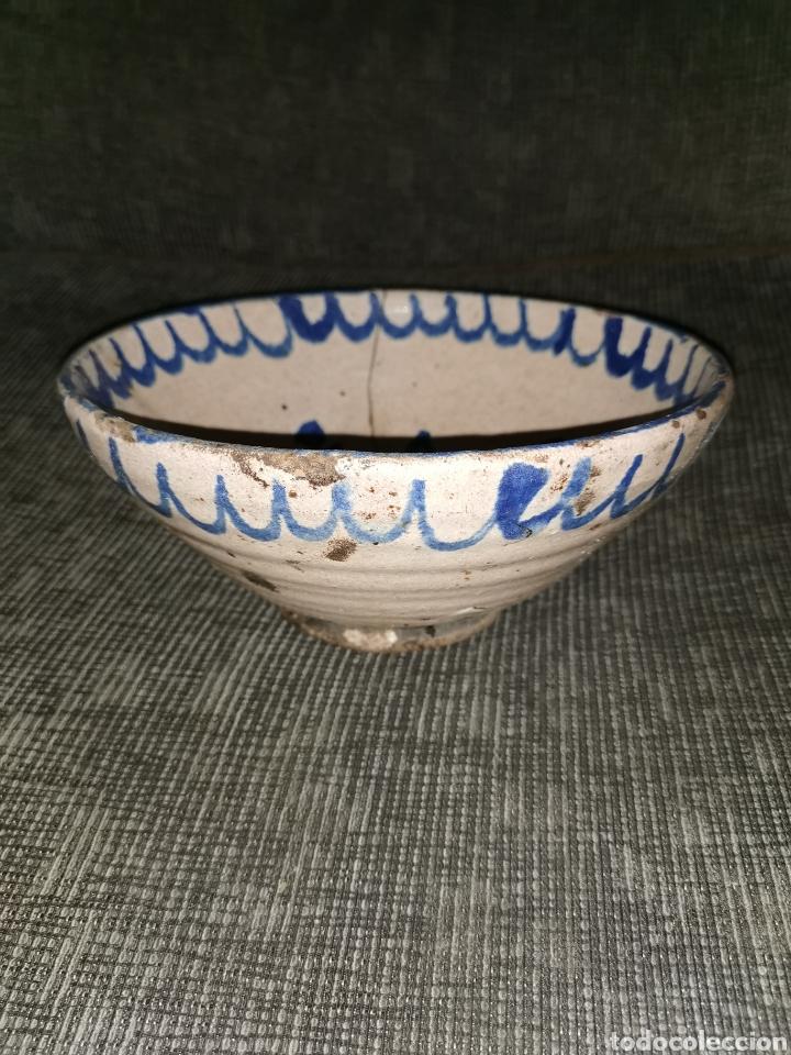 Antigüedades: Fuente de cerámica de fajalauza(Granada). Siglo XIX - Foto 3 - 183256231