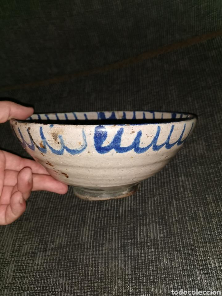 Antigüedades: Fuente de cerámica de fajalauza(Granada). Siglo XIX - Foto 4 - 183256231