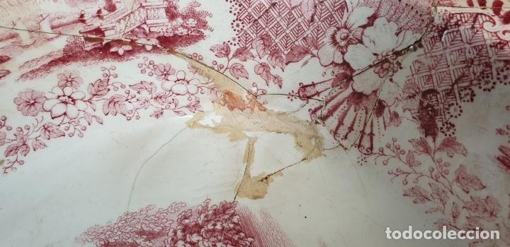 Antigüedades: BANDEJA DE PORCELANA. SERIE ORIENTAL. PICKMAN. SEVILLA. SIGLO XIX. - Foto 4 - 183268530
