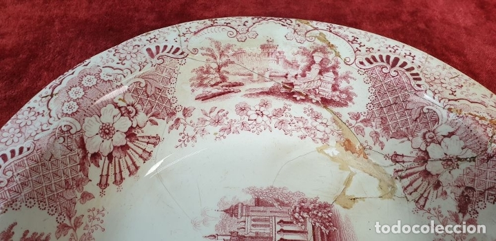 Antigüedades: BANDEJA DE PORCELANA. SERIE ORIENTAL. PICKMAN. SEVILLA. SIGLO XIX. - Foto 7 - 183268530