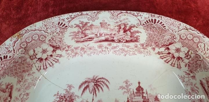 Antigüedades: BANDEJA DE PORCELANA. SERIE ORIENTAL. PICKMAN. SEVILLA. SIGLO XIX. - Foto 8 - 183268530