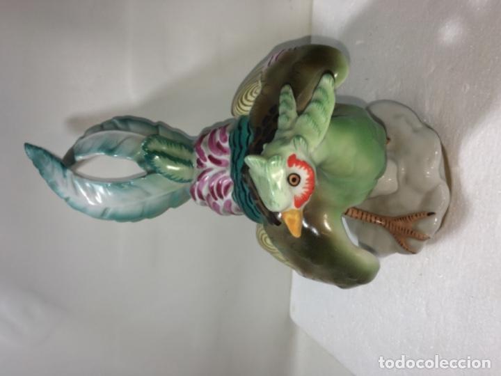 Antigüedades: Faisán Figura en Porcelana o Liza vidriada. Ref100 - Foto 6 - 183275516
