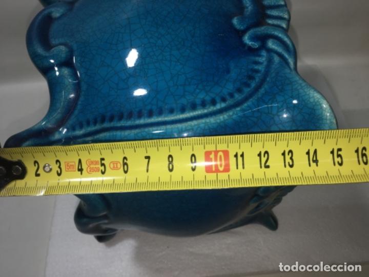 Antigüedades: Centro de Porcelana o Liza azul Ref100 - Foto 9 - 183275652