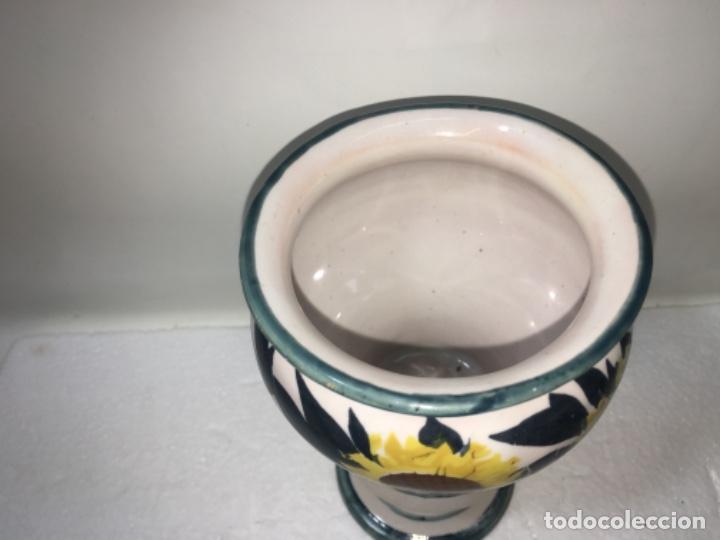 Antigüedades: Jarrón jarroncito decorado en porcelana o Loza medidas fotografíadas Ref100 - Foto 2 - 183276028