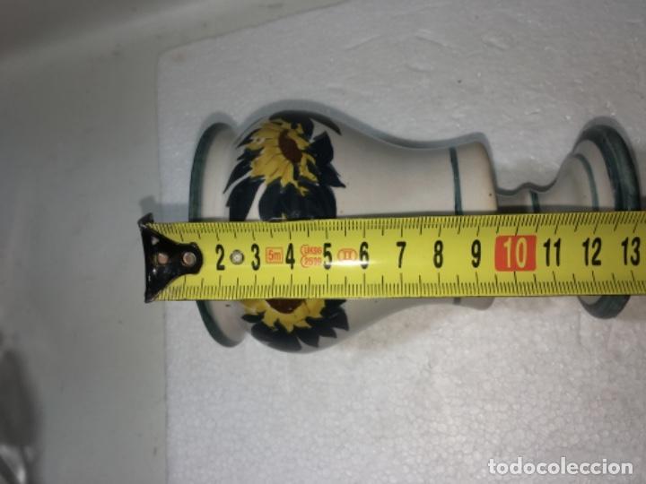 Antigüedades: Jarrón jarroncito decorado en porcelana o Loza medidas fotografíadas Ref100 - Foto 4 - 183276028