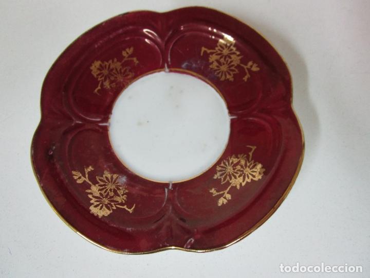 Antigüedades: Bonito Juego de Café o Te - Porcelana Limoges, Francia - 12 Tazas - Fino Dorado - Foto 4 - 183287371