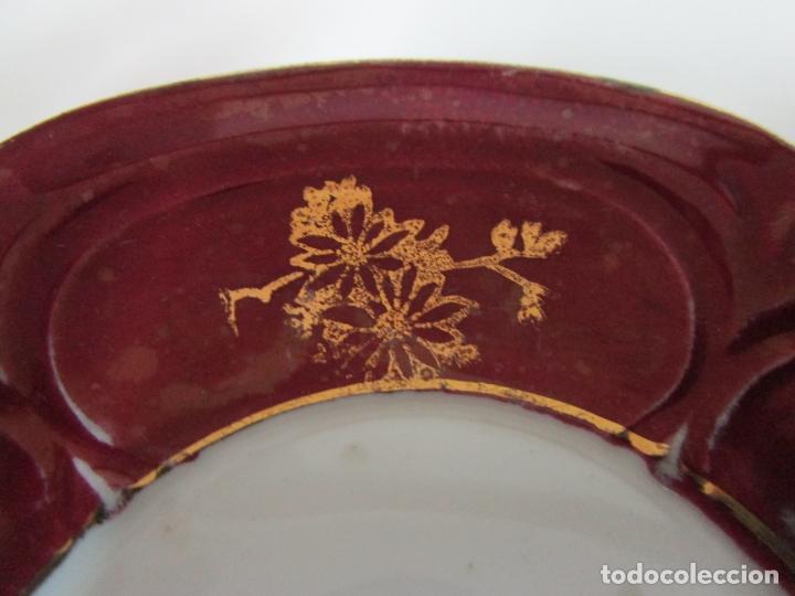 Antigüedades: Bonito Juego de Café o Te - Porcelana Limoges, Francia - 12 Tazas - Fino Dorado - Foto 5 - 183287371