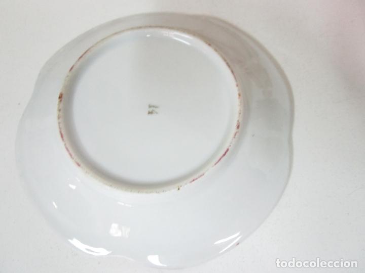 Antigüedades: Bonito Juego de Café o Te - Porcelana Limoges, Francia - 12 Tazas - Fino Dorado - Foto 6 - 183287371