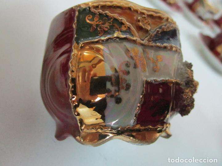 Antigüedades: Bonito Juego de Café o Te - Porcelana Limoges, Francia - 12 Tazas - Fino Dorado - Foto 11 - 183287371